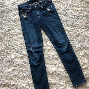 Rag & bone The skinny jeans in La Paz - raw hem